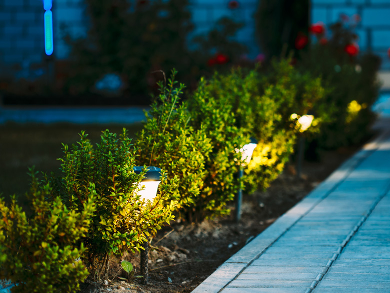 landscape lighting by Toby Lawncare image