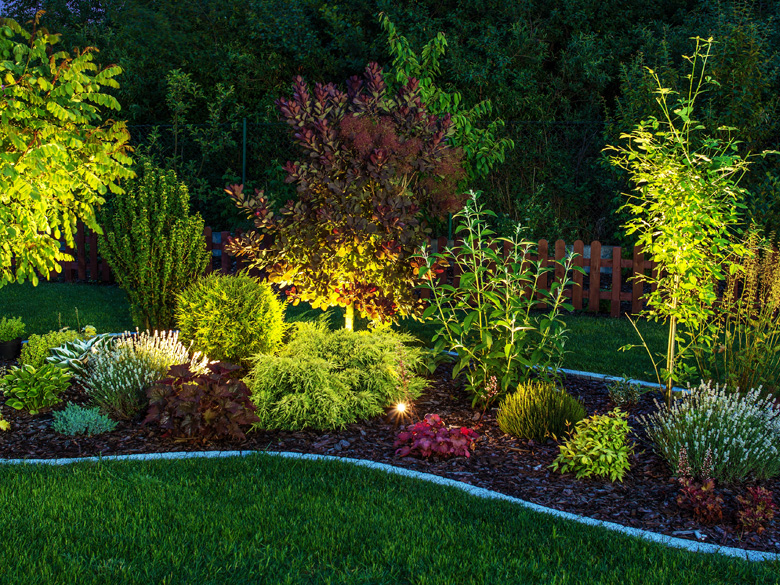 residential landscape lighting design and installation image